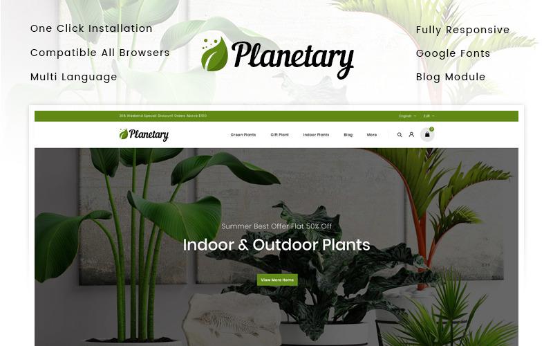Planetário - Tema da PrestaShop da Loja de Plantas