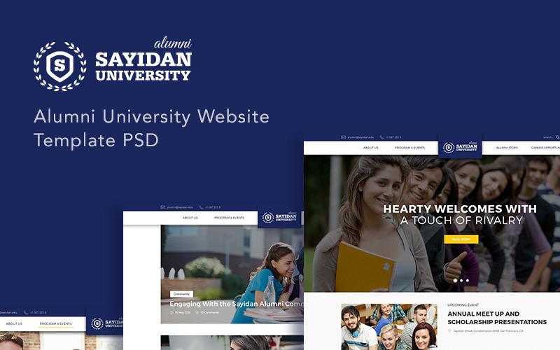 Сайдан - PSD-шаблон випускників університету