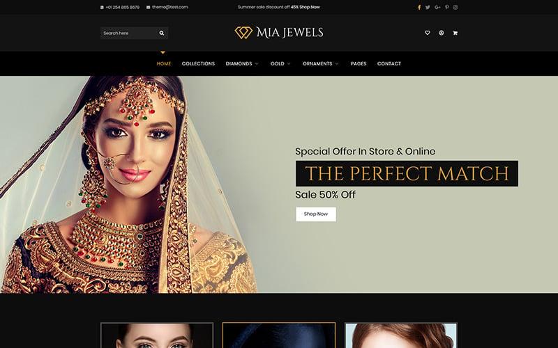 Mia Jewel - Mücevher E-Ticaret PSD Şablonu