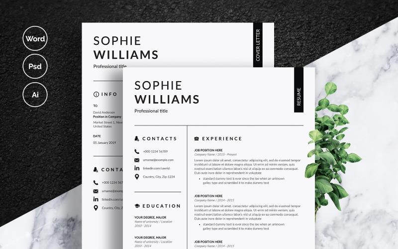 Modelo de currículo de Sophie Williams
