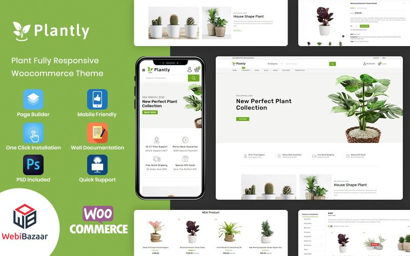 Plantly - Plants And Nursery WooCommerce Theme