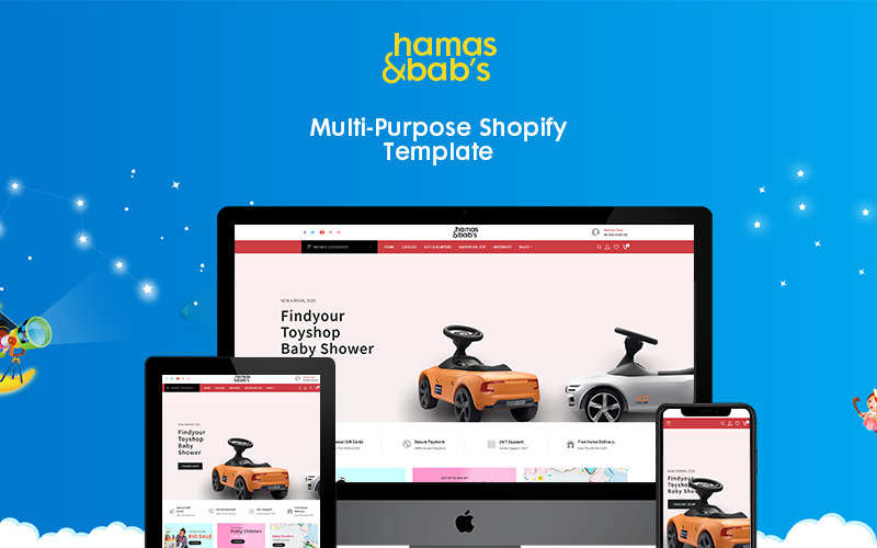 Hamas & babys - Tema Shopify eCommerce di giocattoli per bambini