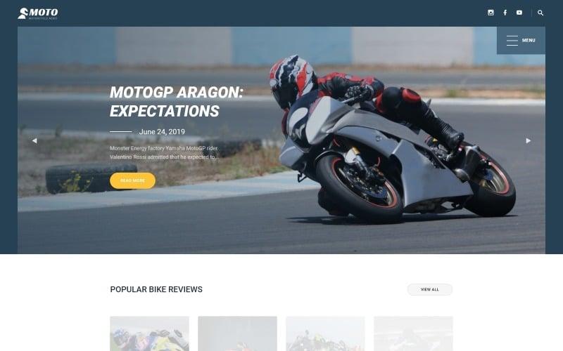 MOTO - Modèle de site Web de sports de moto