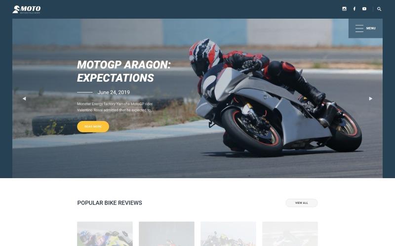 MOTO - Šablona webových stránek pro motocyklové sporty