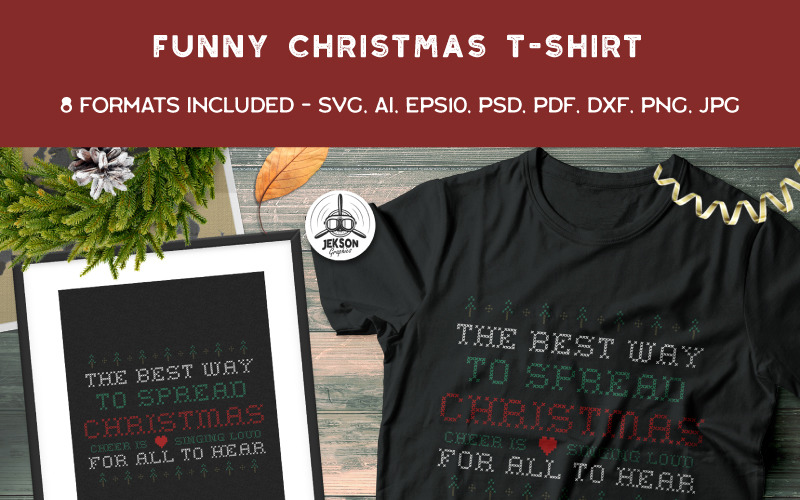 Funny Ugly Christmas Design - projekt koszulki