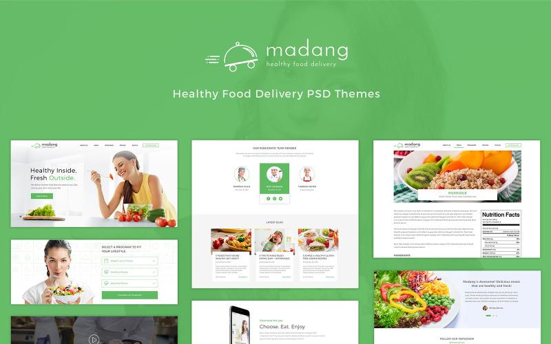 Madang - Доставка здорової їжі PSD шаблон