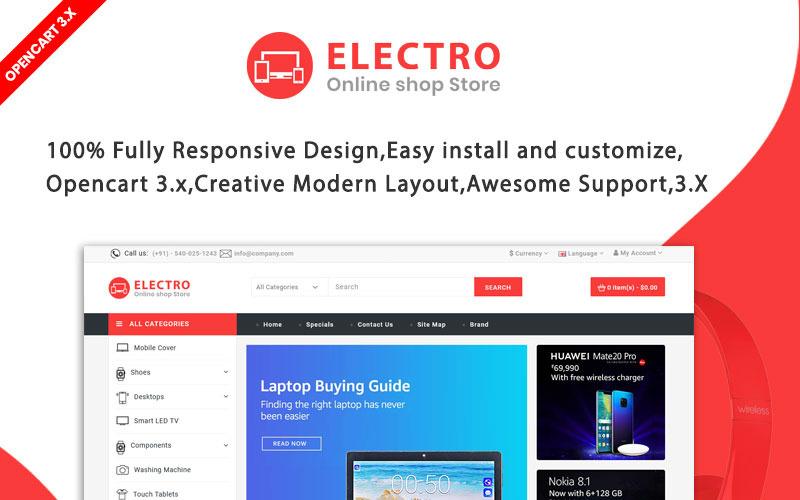 Electro Najlepszy szablon OpenCart dla elektroniki