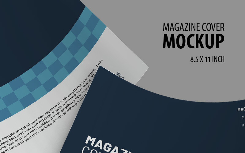 Magazine cover Product Mockup