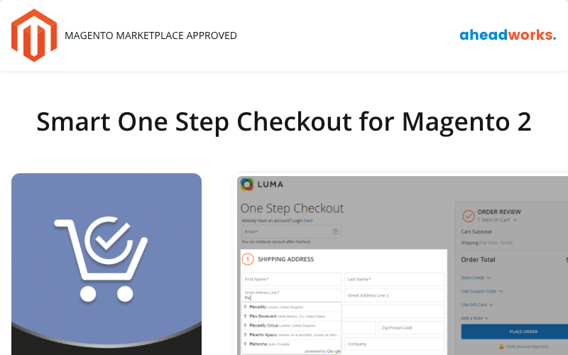 Smart One Step Checkout per Magento 2 Magento Extension