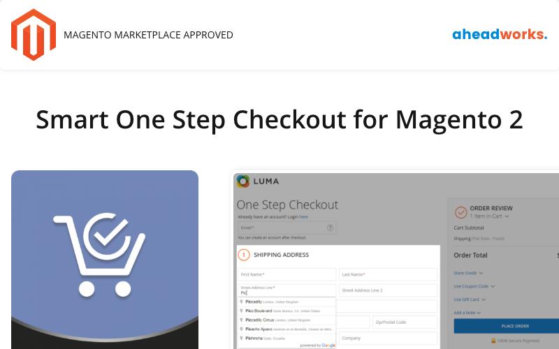 Chytrá jednokroková pokladna pro rozšíření Magento 2 Magento Extension