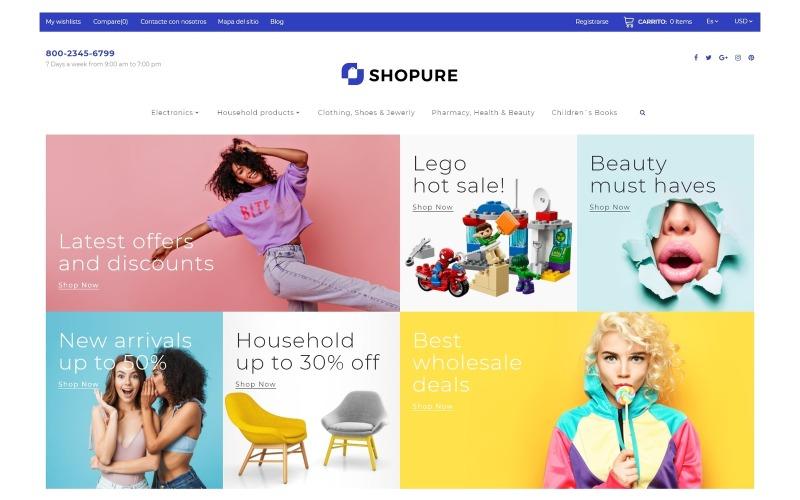 Shopure - Partihandel PrestaShop-tema