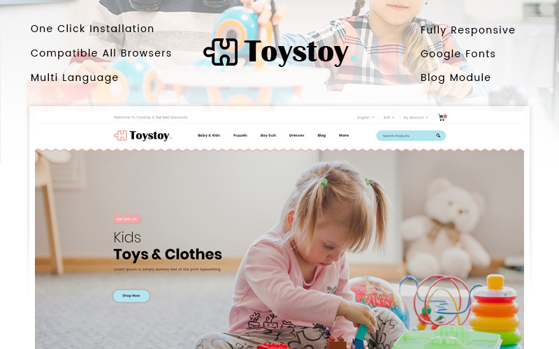 ToysToy - тема для дитячих іграшок PrestaShop