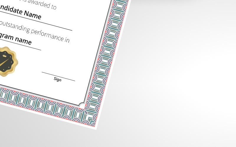 Beautiful Simple Certificate Template