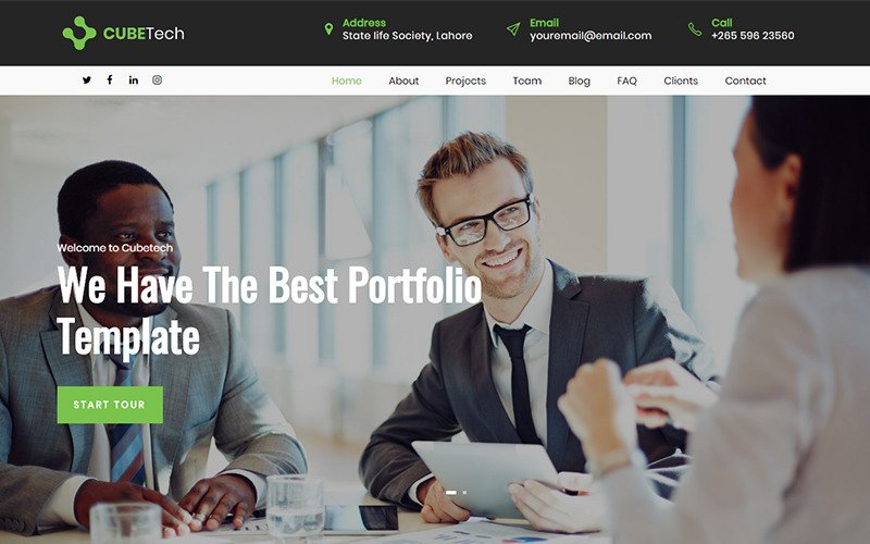 Cubetech - Corporate, Agency & Portfolio HTML Landing Page Template
