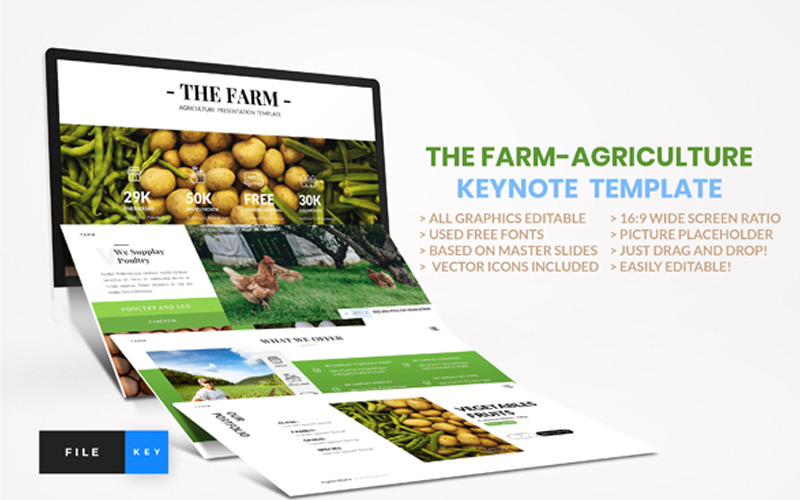 Fazenda - Agricultura - Modelo de apresentação