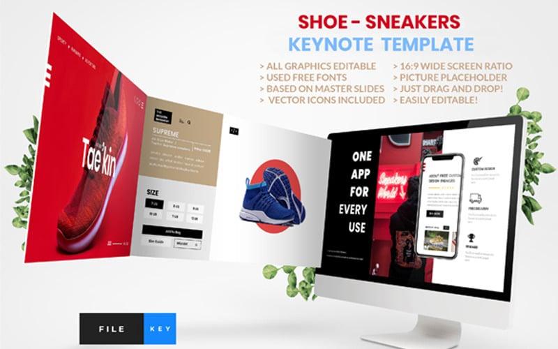 Shoe - Sneakers - Keynote template