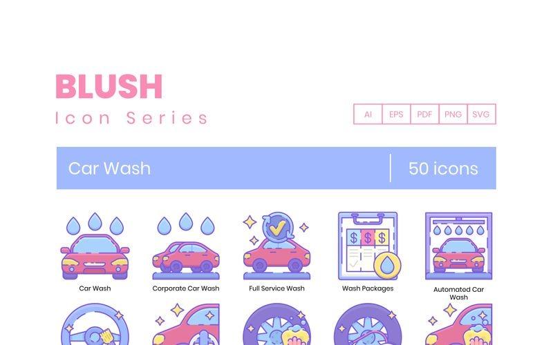 50 иконок для автомойки - набор румян