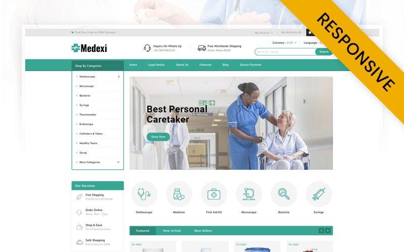 Medexi - PrestaShop-thema voor medische winkel