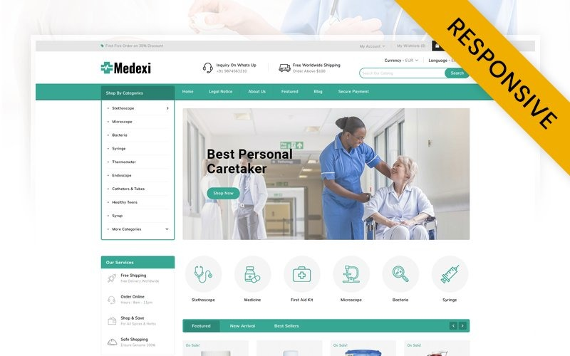 Medexi - Tema Medical Store PrestaShop