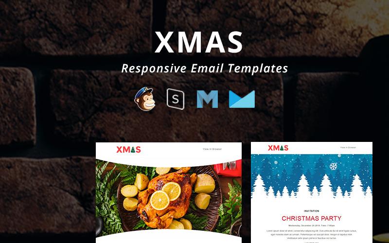 X-MAS - Рождественский шаблон адаптивного электронного информационного бюллетеня