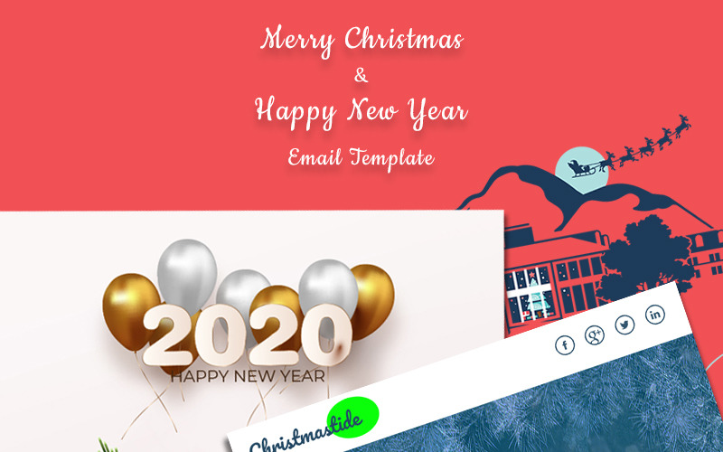 Kerst & Nieuwjaar Nieuwsbrief Template