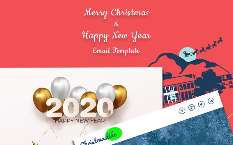 Шаблон информационного бюллетеня Рождества и Нового года
