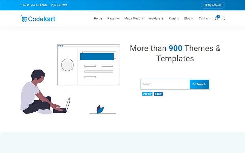 Шаблон веб-сайта цифровой торговой площадки Codekart
