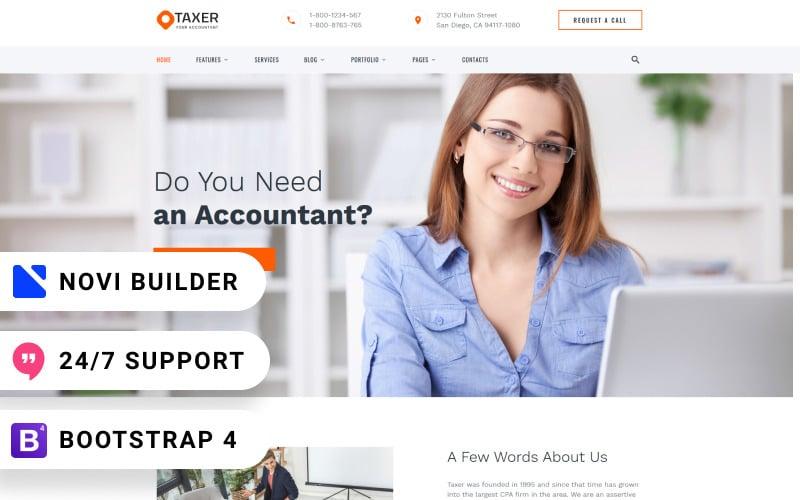 Taxer - Novi Builder Accounting Company Website Template