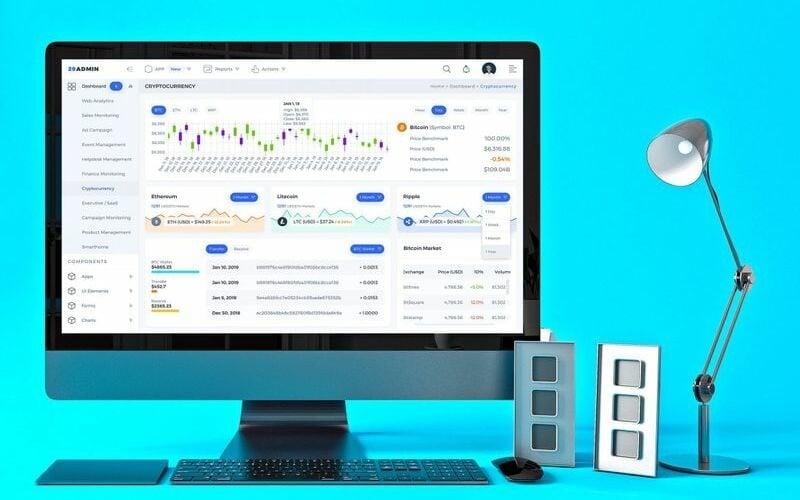 Cryptocurrency Admin Dashboard UI