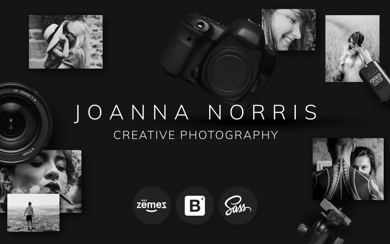 Joanna Norris - Fotoğrafçı Portföyü Web Sitesi Şablonu