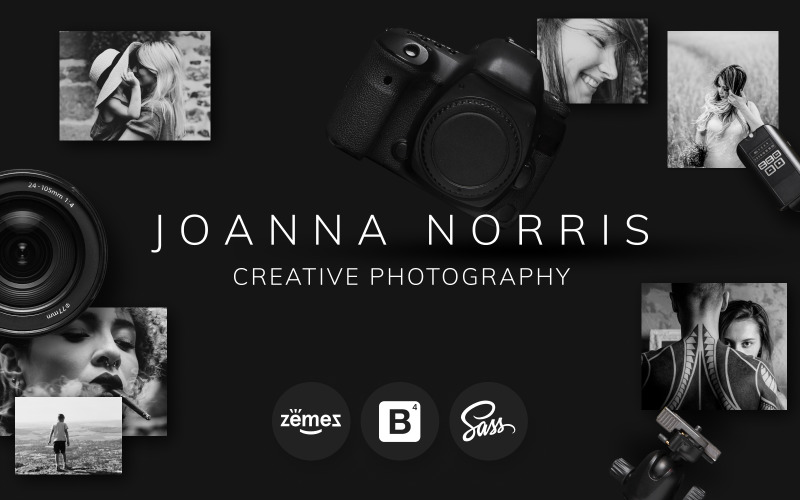 Joanna Norris - Modèle de site Web de portfolio de photographe