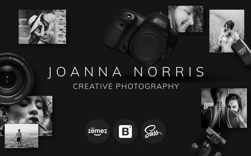 Joanna Norris - Modello di sito web per portfolio di fotografi