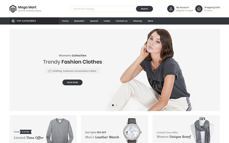 Mega Mart - Fashion Store Multi-Purpose Responsive PrestaShop Theme