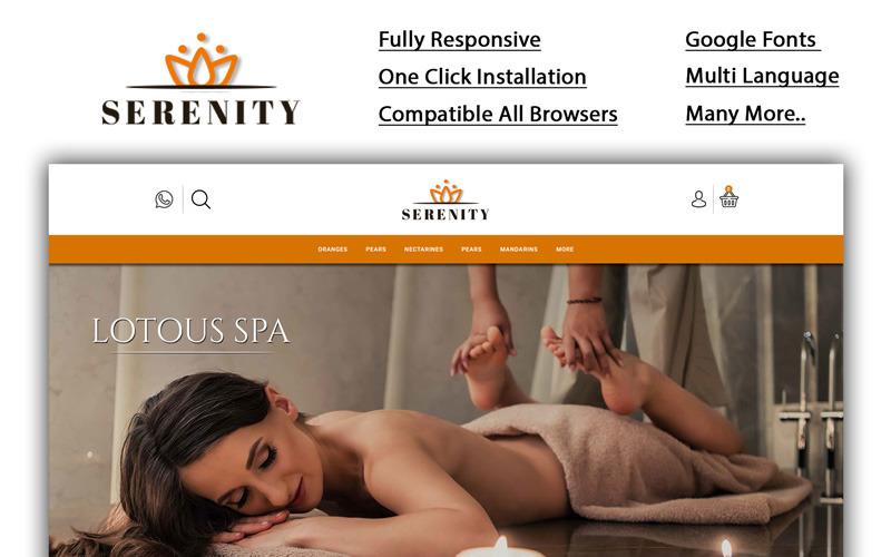 Serenity - шаблон OpenCart для спа-магазина