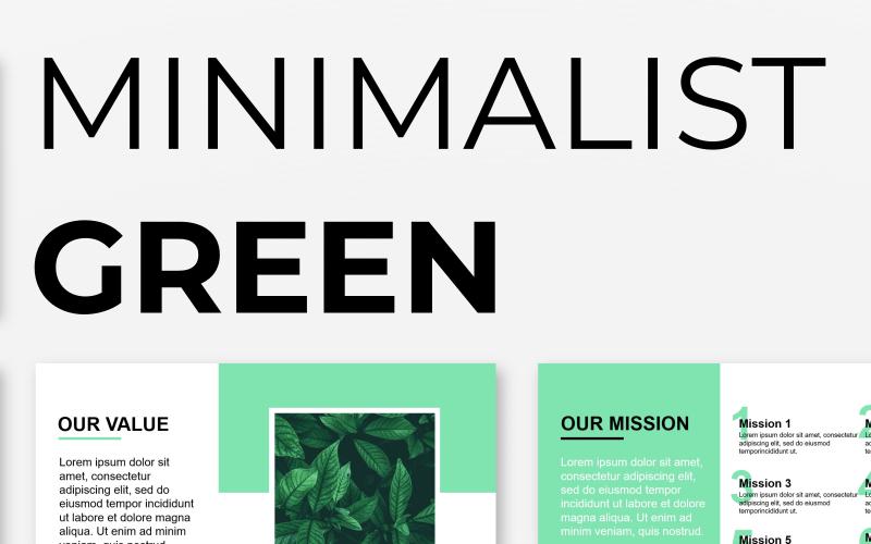 Plantilla de PowerPoint - presentación verde minimalista