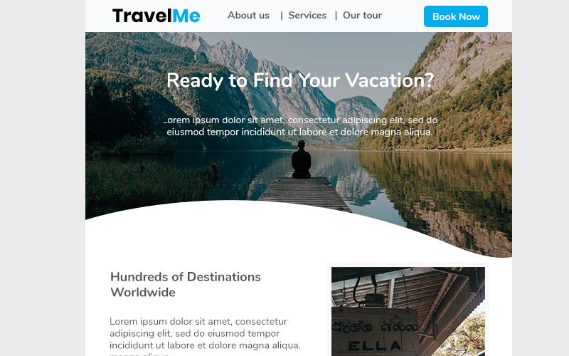 Шаблон информационного бюллетеня Travel Me