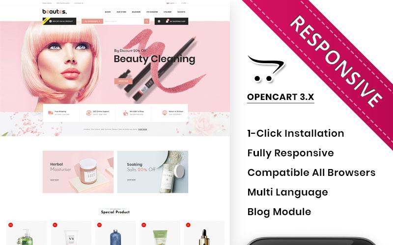Beautes-大型化妆品店OpenCart模板