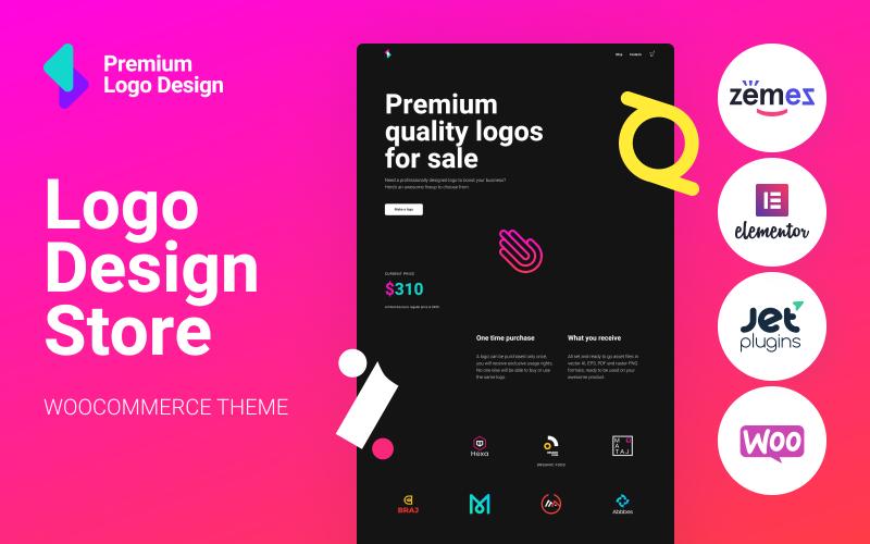 Logoster - Креативный и современный дизайн логотипа для магазина WooCommerce
