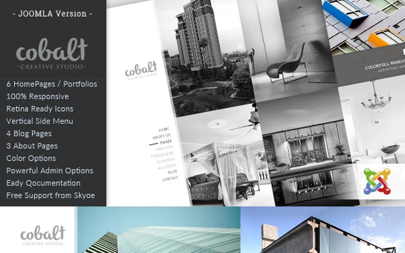 Cobalt - адаптивний шаблон Joomla для архітекторів та креативів