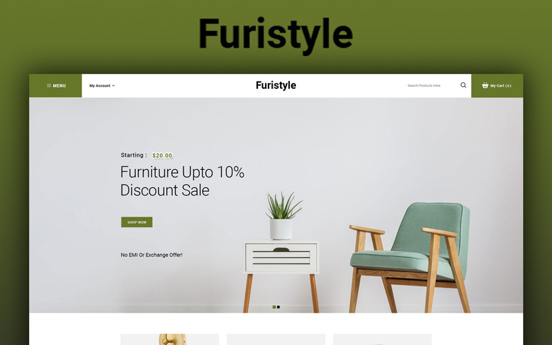 Furistyle - Meubelwinkel OpenCart-sjabloon