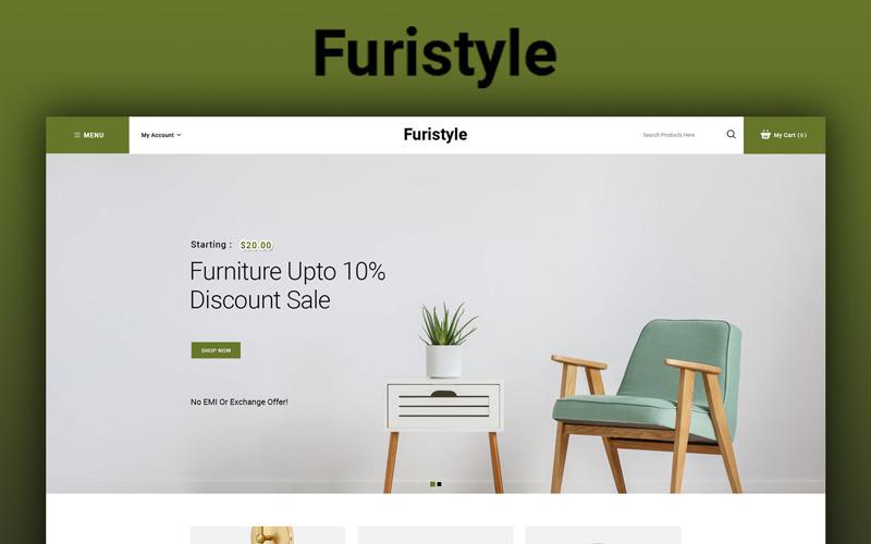 Furistyle - Modello OpenCart del negozio di mobili