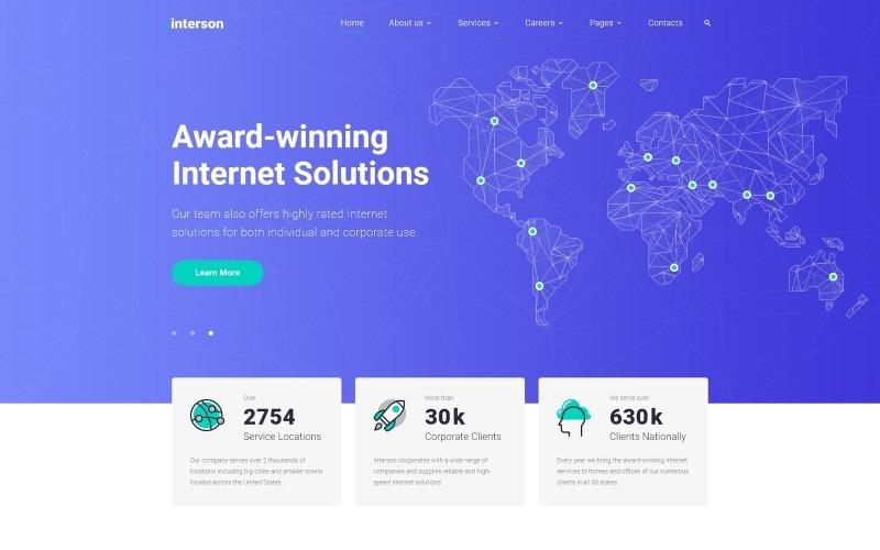 .interson-互联网清洁HTML网站模板