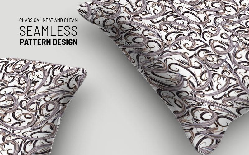Patrón de diseño sin costuras de flores y ramas clásicas