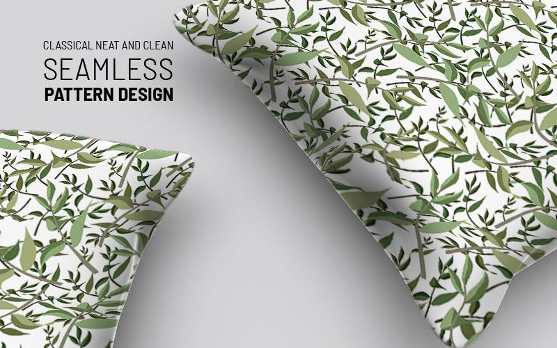 Patrón de diseño sin costuras de hojas y ramas