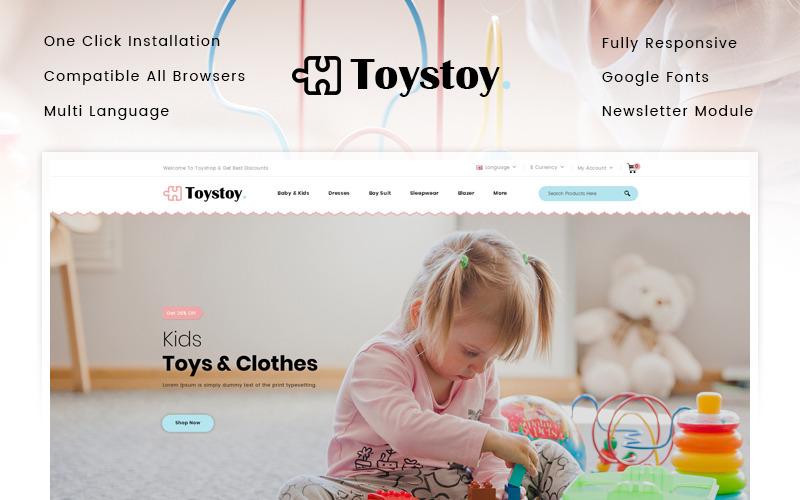 Plantilla OpenCart para tienda de ropa y juguetes para niños