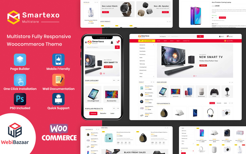 Smartexo - Elektronisches Mehrzweck-WooCommerce-Thema