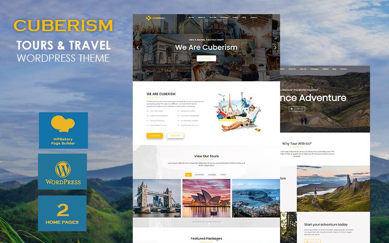 Cuberism - Tour and Travel WordPress Theme