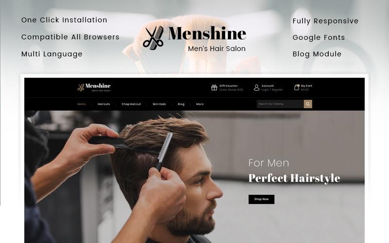 Menshine - Tema de PrestaShop para tienda de peluquería