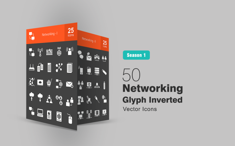 Набор из 50 перевернутых сетевых символов