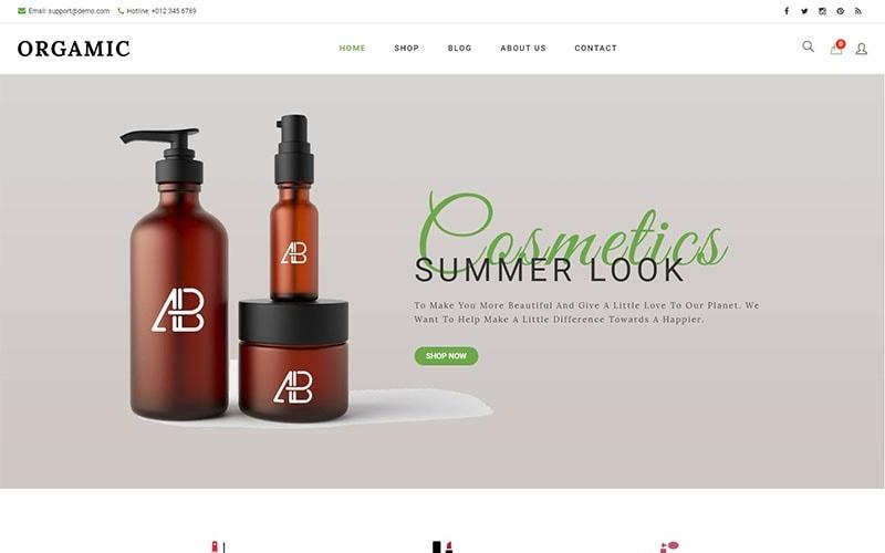 Orgamic - Thème WooCommerce pour magasin de beauté biologique et cosmétiques naturels